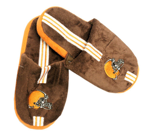 Cleveland Browns Slippers - Youth 8-16 Stripe