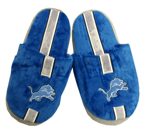 Detroit Lions Slippers - Youth 8-16 Stripe