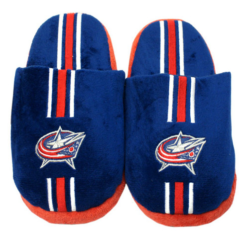 Columbus Blue Jackets Slippers - Youth 8-16 Stripe