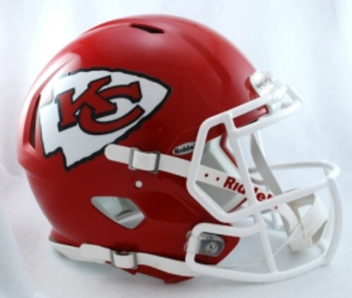 Kansas City Chiefs Helmet Riddell Authentic Full Size Speed Style