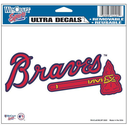Atlanta Braves Decal 5x6 Ultra Color