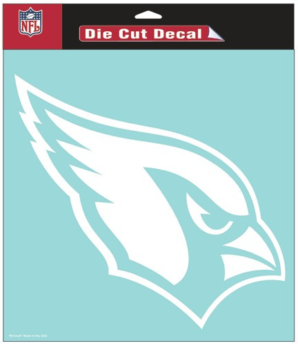 Arizona Cardinals Decal 8x8 Die Cut White