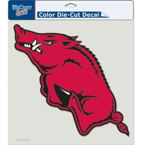 Arkansas Razorbacks Decal 8x8 Die Cut Color