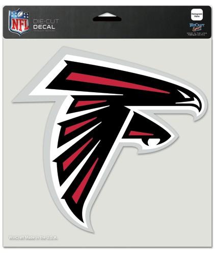 Atlanta Falcons Decal 8x8 Die Cut Color