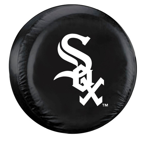 Chicago White Sox Black Tire Cover - Standard Size