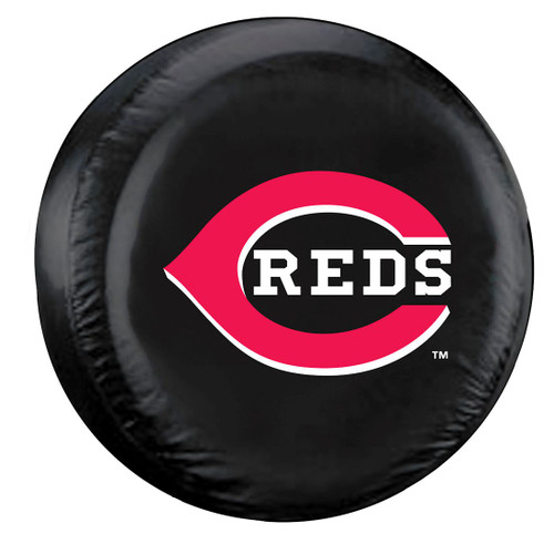 Cincinnati Reds Black Tire Cover - Standard Size