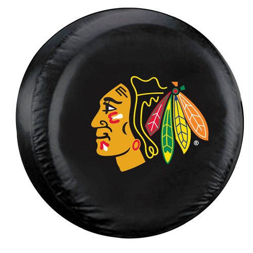 Chicago Blackhawks Black Tire Cover - Standard Size