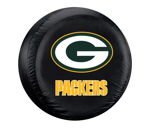 Green Bay Packers Tire Cover Standard Size Black