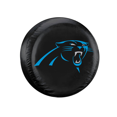 Carolina Panthers Tire Cover Standard Size Black