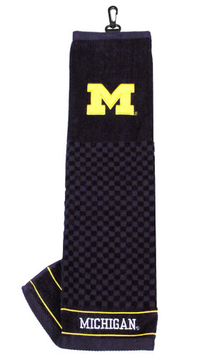 """Michigan Wolverines 16""""x22"""" Embroidered Golf Towel"""