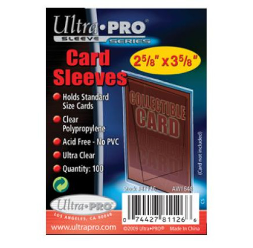 Ultra Pro Card Sleeves - (100 per pack)