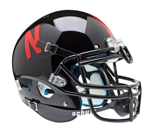 Nebraska Cornhuskers Schutt Authentic Full Size Helmet - Black Alternate