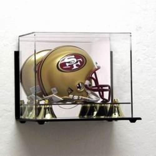 Deluxe Acrylic Mini Football Helmet Display Case - Wall Mountable
