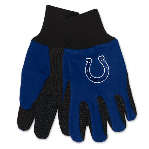 Indianapolis Colts Two Tone Adult Size Gloves