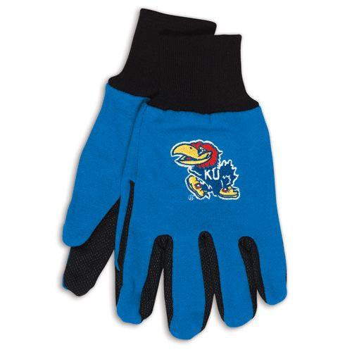 Kansas Jayhawks Two Tone Gloves - Adult