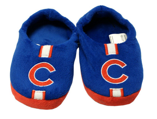 Chicago Cubs Slippers - Youth 4-7 Stripe