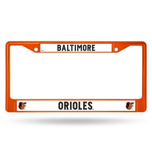 Baltimore Orioles License Plate Frame Metal Orange