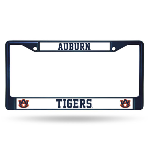 Auburn Tigers License Plate Frame Metal Navy