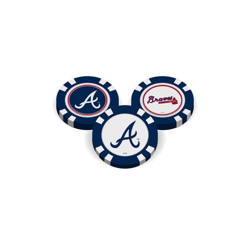 Atlanta Braves Golf Chip with Marker - Bulk