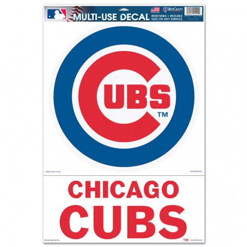 Chicago Cubs Decal 11x17 Ultra 2 Piece Logo - Special Order