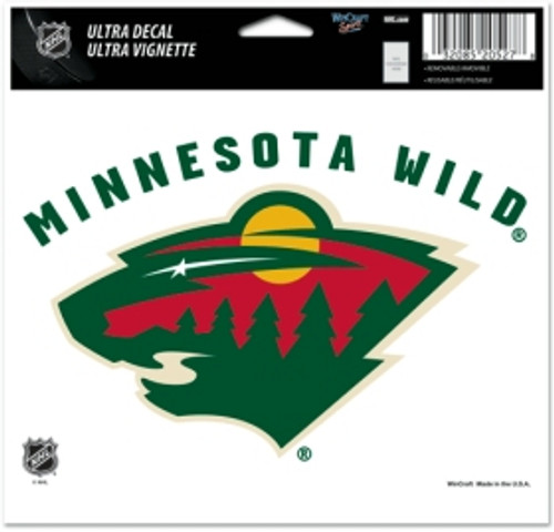 Minnesota Wild Decal 5x6 Ultra Color