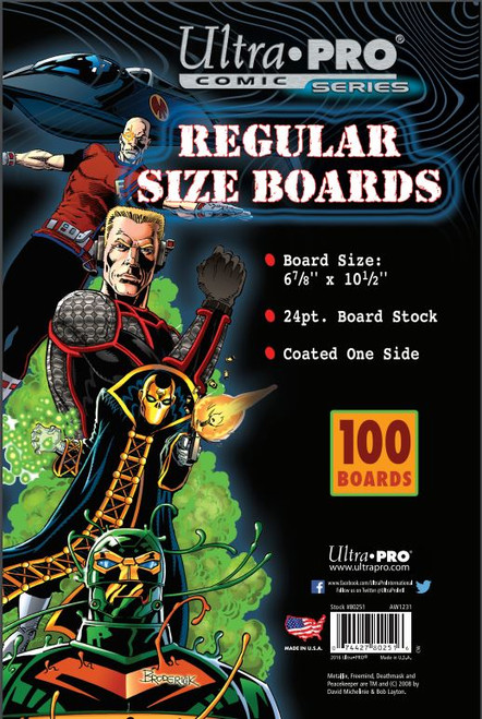"Boards - Regular 6 7/8"" x 10 1/2"" (100 per pack)"