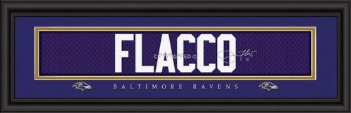 "Baltimore Ravens Joe Flacco Print - Signature 8""x24"""