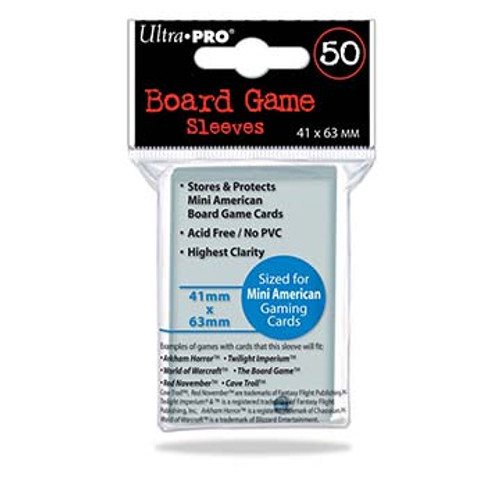 Ultra Pro Board Game Sleeve 41mm x 63mm - 50pk - Special Order