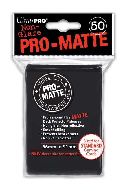 Deck Protectors - Pro-Matte - Black - Pack of 50