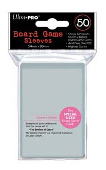 Ultra Pro Board Game Sleeve - 54mm x 80mm - 50pk - Special Order