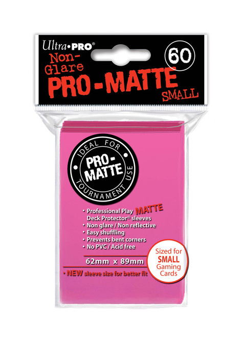 Deck Protector - Pro-Matte Small Size - Bright Pink (10 packs of 60) - Special Order