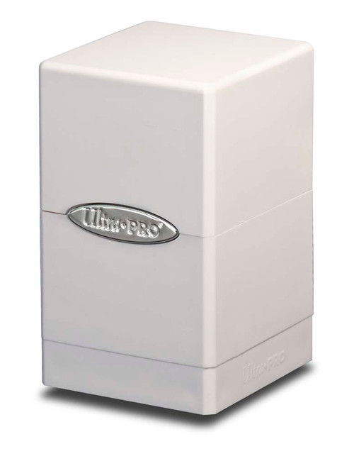 Satin Tower Deck Box - White