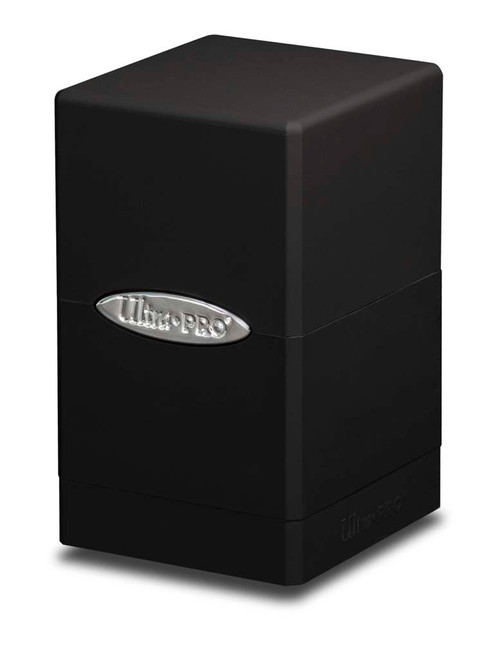Satin Tower Deck Box - Black