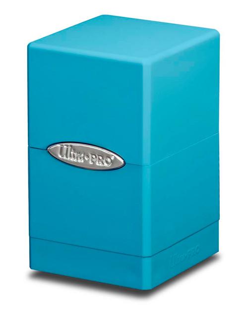 Satin Tower Deck Box - Light Blue