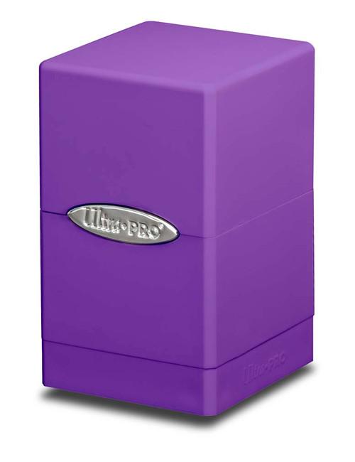 Satin Tower Deck Box - Purple