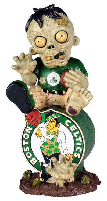 Boston Celtics Zombie Figurine - On Logo