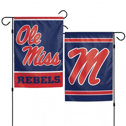 Mississippi Rebels Flag 12x18 Garden Style 2 Sided - Special Order