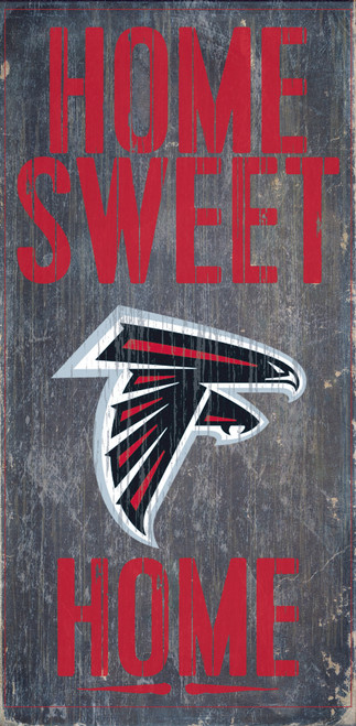 "Atlanta Falcons Wood Sign - Home Sweet Home 6""x12"""