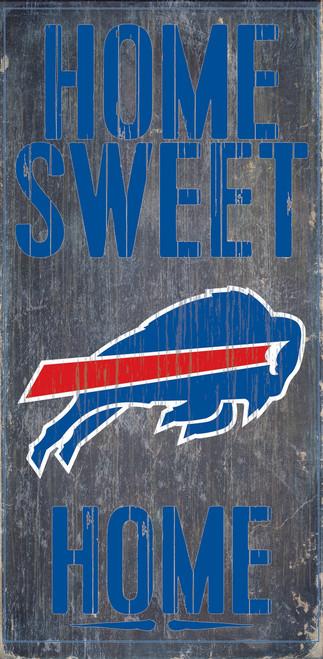 "Buffalo Bills Wood Sign - Home Sweet Home 6""x12"""