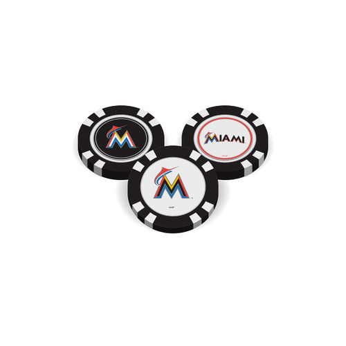 Miami Marlins Golf Chip with Marker