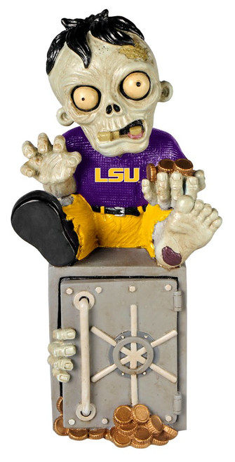 LSU Tigers Zombie Figurine Bank CO