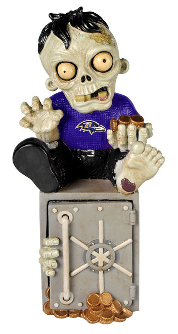 Baltimore Ravens Zombie Figurine Bank