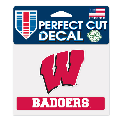 Wisconsin Badgers Decal 4.5x5.75 Perfect Cut Color - Special Order