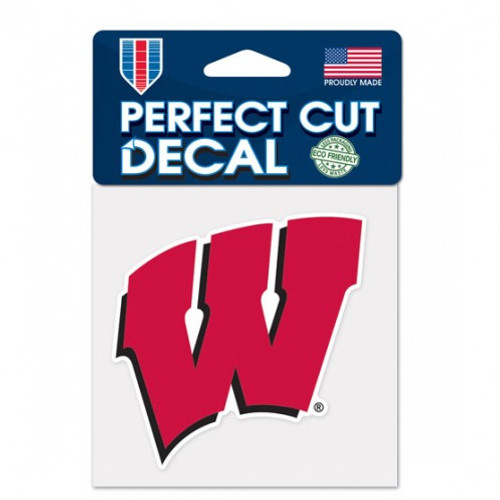 Wisconsin Badgers Decal 4x4 Perfect Cut Color