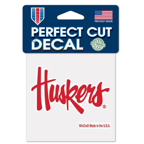 Nebraska Cornhuskers Decal 4x4 Perfect Cut Color