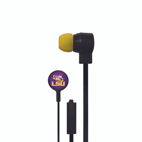 LSU Tigers Big Logo Ear Buds