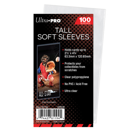Ultra Pro Card Sleeve - Tall (100 per pack)