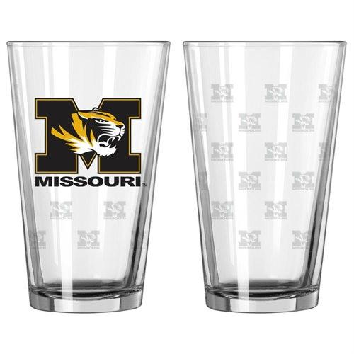 Missouri Tigers Satin Etch Pint Glass Set - Special Order