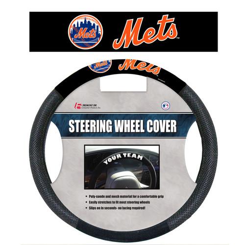 New York Mets Steering Wheel Cover Mesh Style CO