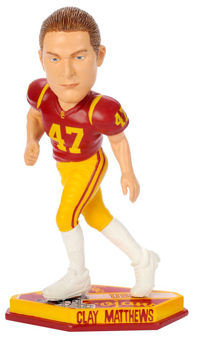 USC Trojans Clay Matthews Forever Collectibles Thematic Base Bobblehead